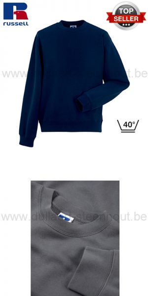 Russell - French navy werksweater / werktrui R-262M-0 - Authentic Set-In Sweatshirt