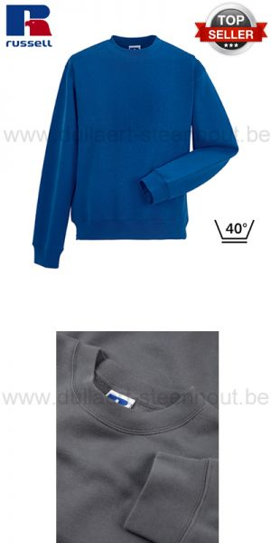 Russell - Bright royal werksweater / werktrui R-262M-0 - Authentic Set-In Sweatshirt
