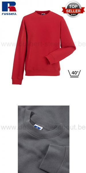 Russell - Rode werksweater / werktrui R-262M-0 - Authentic Set-In Sweatshirt