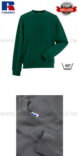 Russell - Groene werksweater / werktrui R-262M-0 - Authentic Set-In Sweatshirt