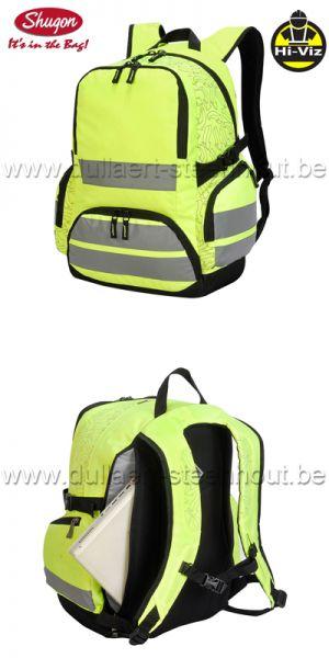 f5c1cc64f6b Shugon - London Hi-Vis 7702 Fluo gele rugzak met reflecterende banden