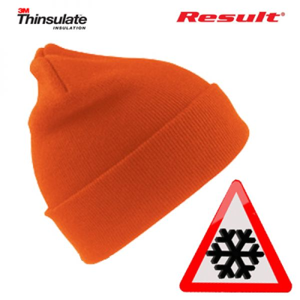 Result Fluo oranje wintermuts met Thinsulate isulation 3M