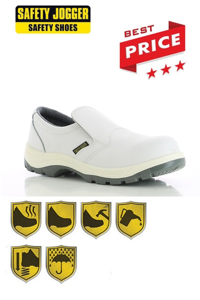 Werkschoenen Met Witte Zool.Werkkleren Safety Jogger X0500 Witte Werkschoenen
