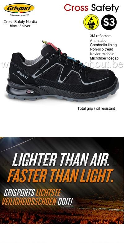 Werkschoenen Veiligheidsschoenen.Werkkleren Grisport Cross Safety Nordic S3 Licht En Comfortabele