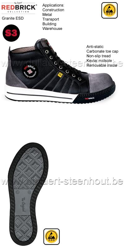 Redbrick Dames Werkschoenen.Werkkleren Redbrick S3 Sneaker Werkschoenen Werksneaker